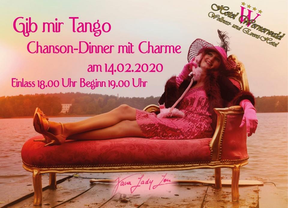 Gib mir Tango - Chanson-Dinner mit Charme im Wellness Hotel Wernerwald